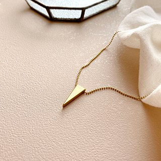 Simple day-brass necklace
