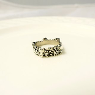 Fancy Moon*My Castle Castle Ring*Fine * 925 Sterling Silver