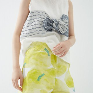 Y1,hsuan X Redwood exclusive printed fabric series lace waist shorts library