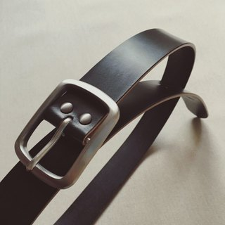 Handmade leather belt black J & E bridle leather selection hip back business belt buckle leather knight PXK produced