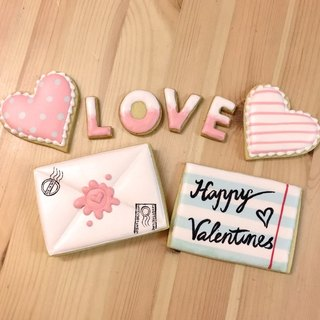 LOVE love letters hand-made sugar cookie