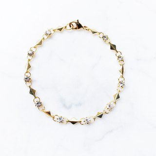 ::Classic Series :: Shimmer Faceted Diamond Square Bracelet