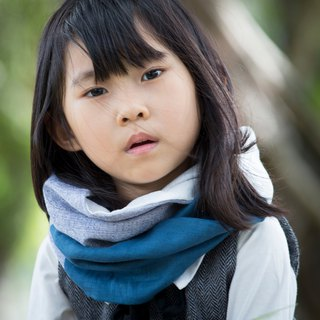 Blue /  Child Size / Cool Spring & Autumn Neck Warmer / Scarf