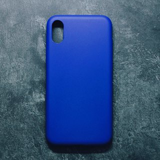 Pure Color Minimalist Leather iPhone Case - Royal Blue