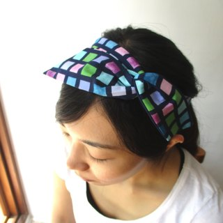 Turn the hair band (handmade) - tie ear - rendering grid