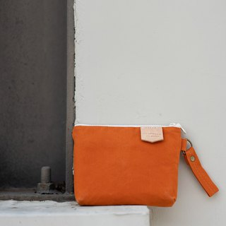 Wax and wax universal bag pumpkin orange universal bag purse hard disk package waterproof hard disk package paraffin canvas bag