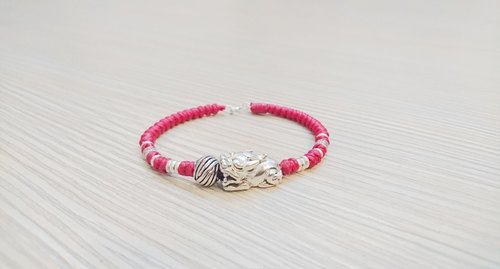 925 sterling silver wax rope bracelet lucky rope bracelet brave move money to avoid evil bracelet