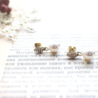 Simple-Pear zircon earrings