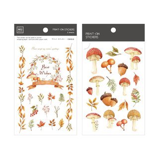 [Print-On Stickers] | Flower Series 31-Mushroom Forest | Pocket Friends