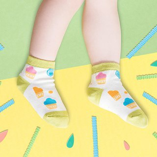 Ice cream cone anti-slip 1/2 child socks
