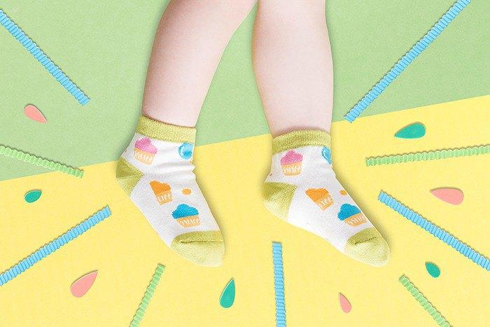 【快速出貨/免運】冰甜筒防滑2分之1童襪│質感禮盒包裝