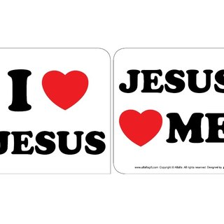 Love 2 love car anti-slip silicone paste (I LOVE JESUS)
