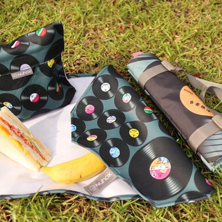 Taiwan's release music record food bag, cloth set