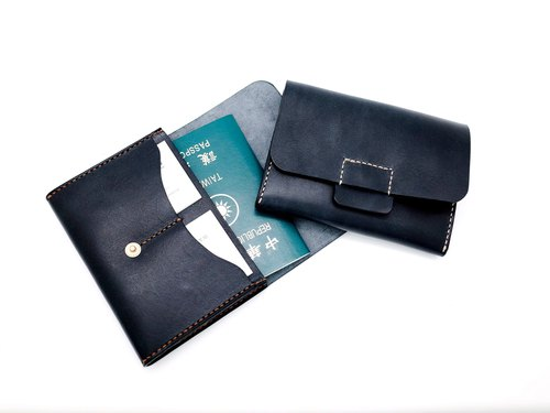 Leather Passport Cover / Passport Holder (12 colors / engraving service)