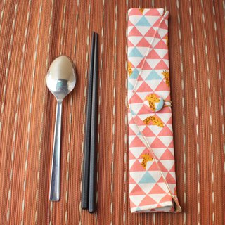 Adoubao-Chopsticks Set Pack - Pink Triangle & Giraffe