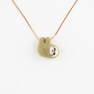 Hug me necklace / wool felting animals – sloth