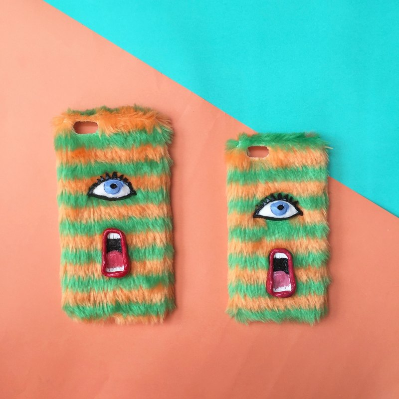 Lip N' Eye stripe phone case