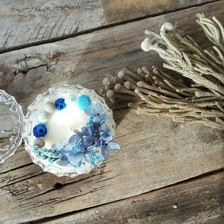 Blues Small Garden Soybean Skin Care Candle/Home Decoration/Gift/Dry Flower