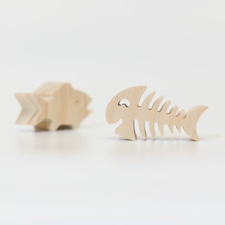 wagaZOO thick cut shape building blocks marine series - live fish and dead fish