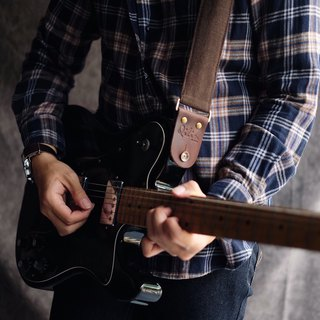 Brown Denim Guitar Strap