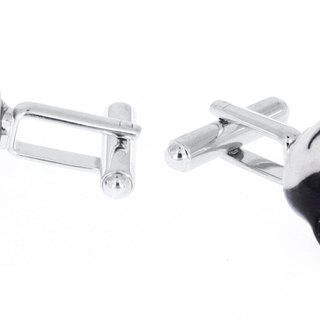 Nach Bijoux France black and white tiger dog Cufflinks Christmas gift