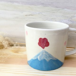 Mount Fuji Mug - Outbreak (right hand) big - 550ml)