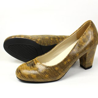 Brown lizard heel