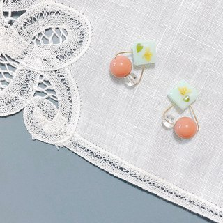 Autumn Story Series - Haijie hand-made dry flower hanging ear pin/ear clip