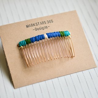 Contrast braided hair fork / hairpin / hair comb - zero land