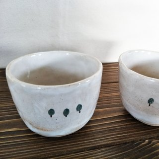 Pinching trees ceramic cups