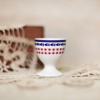 [Good day fetish] Netherlands VINTAGE red grid pattern egg cup