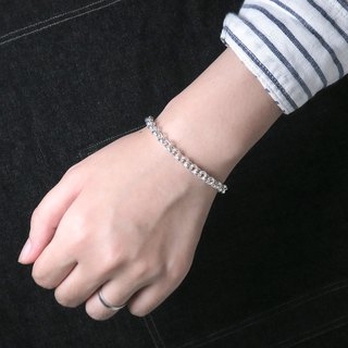 Classic thick circle bracelet silver white 925 sterling silver female bracelet