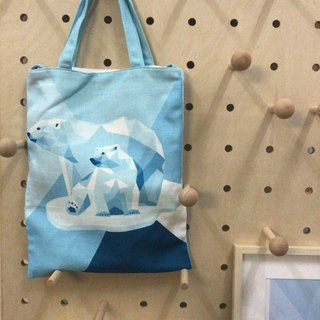 Polar bear tot bag