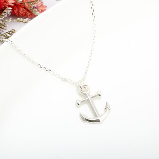 Large Anchor s925 sterling silver necklace Valentine's Day gift