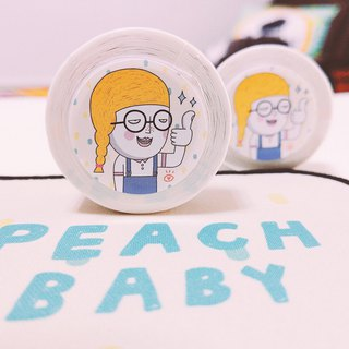 Paper Tape _Peach Baby #blackeyebow #illustrations