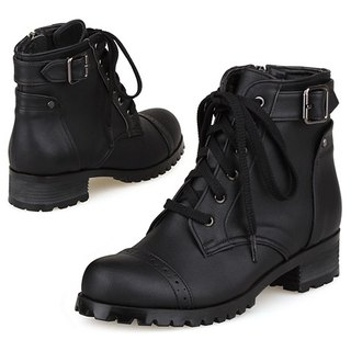 NEW SPRING - SPUR Biker walker Boots EF7072 BLACK