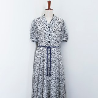 Banana Flyin Vintage :: Spring Blossom Skirt :: Vintage Dress with Short Sleeve