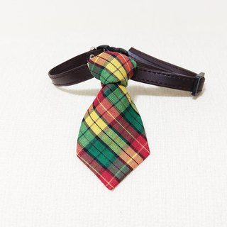 Ella Wang Design Tie Pet Bow Tie Tie Cat Dog Yellow Plaid Gentleman