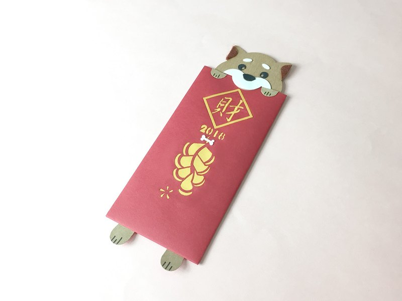 He New Year (Year of the Dog) creative hand-made red envelope bag _L _ _ into a
