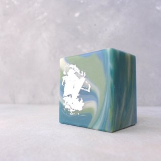 Basil & Cucumber Soap :: Marbled Collection