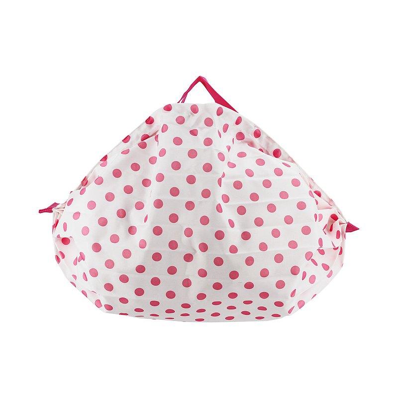 雨罩購物袋【粉紅圓點】M