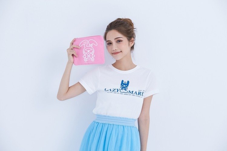 LAZYMARU- LM000058- Baby Rabbit MARU Cosmetic Bag (Pink) Fight Taiwan Creative