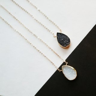 14kgf*monotone Druzy quartz necklace
