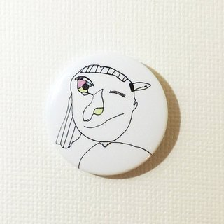 Magnetic tin badge: Naughty girl