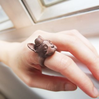 3D Print ~ Boston Terrier Ring