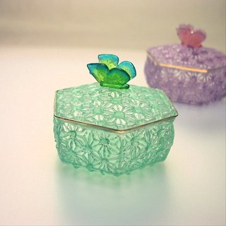 Glass accessories (green)
