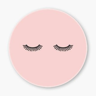 Snupped Ceramic Coaster - lashes