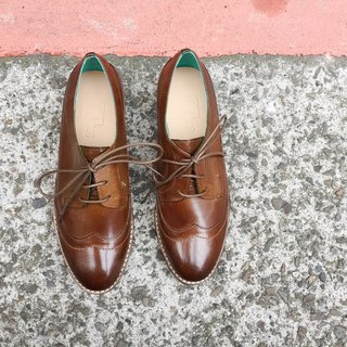 Painting # 8027 || calfskin Oxford shoes Kingsman brown green ||