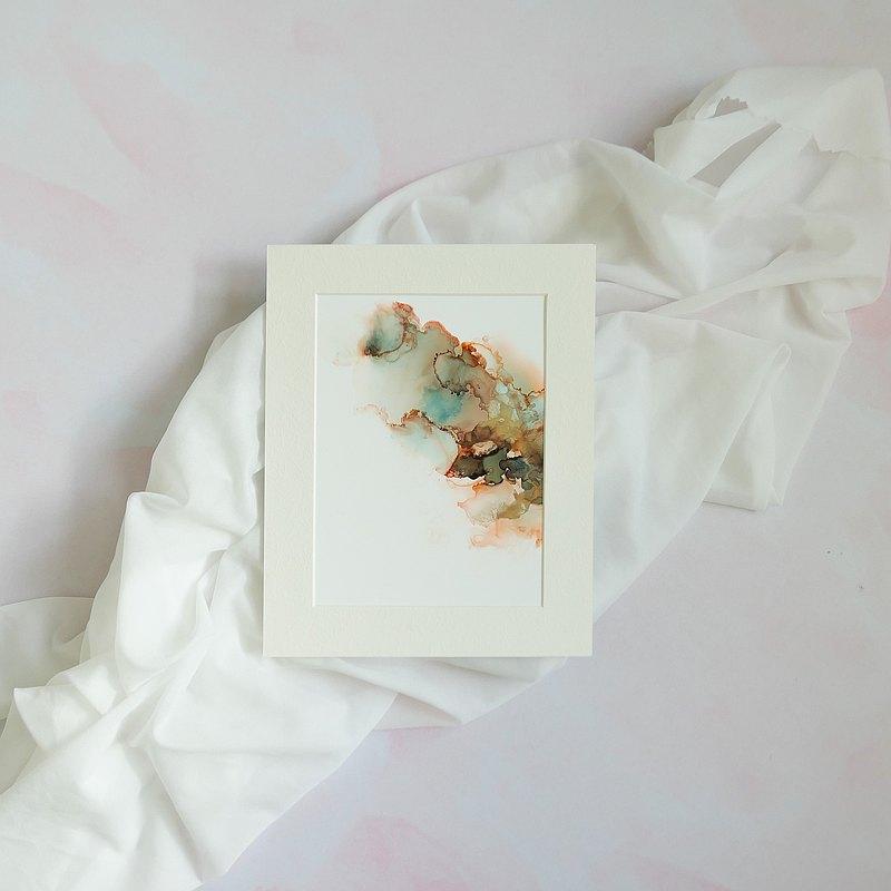 大地之母1 抽象畫 家居佈置 裝飾 禮物 簡約主義 手繪原畫作 A5