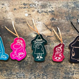 #成品制造手染MOOMINx Hong Kong-made leather Mummin series bookmarks officially authorized